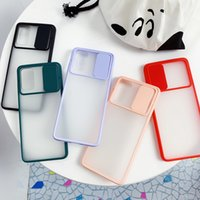 Slide camera cover phone cases shockproof tpu protect cellphone accessories for samsung galaxy s20 s20p s20fe s21p s21 ultra iphone 12 11 pro max iphone12 mini x xs xr