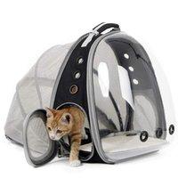 확장 가능한 고양이 캐리어 배낭 휴대용 애완 동물 강아지 여행 야외 운송 업체 컨베이어 고양이 가방 공급 업체, 상자 주택