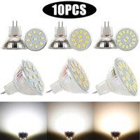 Ampoules 10pcs MR11 GU4 LED Spotlight AC DC 12V 24V 5733 SMD 9LÉS 12ELÉS 15LÉS Lampe blanche à chaud / froid / neutre Remplacer la lumière halogène