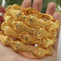 Bangle Women Gold Arabic Dubai Designer Charms Jewelry Fashion Plated Bracelets Hawaiian Jewellery