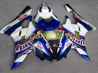 차체 주입 모드 페어링 키트 yamaha yzf600r6 cowlings 06 07 yzf600 r6 2006 2007 YZF 600R6 사용자 정의 선물 ABS 블루 화이트 레드
