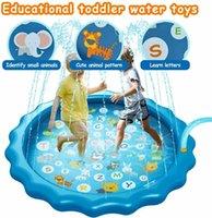 Toys for Kids boys girls Spray Pool Sprinkler Pad Water Spray pad Splash Play Mat Toys Inflatable Splash Play A0517