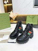 Top Quality Luxury Martin Boots Stivaletto Stivaletto Sole spessa di scarpe Pelle Upper Tacchi alti Tacchi alti Abito Stivali Jeans Fashion Retro Feel Prendi la scatola del marchio e il sacchetto della polvere Dimensione 35-41