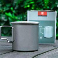 Coupes Souffeuses 750/550 / 350ml Ultralight Titanium Cup Batterie de cuisine Home Portable Portable Tasse à eau Vaisselle Cuisson Pot de cuisson pour Camping Picnic
