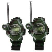 Long Range Two-way Radio Talky Camo Outdoor Army Kids Walkie Talkies Watch Toy