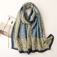 2021 Polyester fashion joker flower print Scarf High Quality Beach towels National Wind Long Scarves For Women Wrap Shawl Stole 317