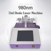 2 в 1 Удаление машины для удаления вен паука 980nm диодный лазер сосудистыми поражениями сосудистыми поражениями.