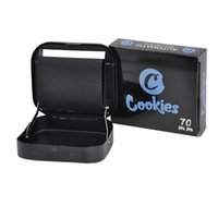 Cookies Rolo de cigarro 70mm Metal Handheld Automatic Machine Dispositivo para Seco Herb Tobacco Stash Acessórios para fumar