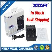 Xtra VC2S Pil Şarj LCD Ekran Akıllı Mikro USB Girişi 2 Çift Yuva Pil Gücü 18650 26650 Piller