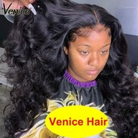 Venice Hair 370 Lace Frontal Wig With Baby Fake Scalp 13x6 Front Human Wigs For Black Women Curly Remy1