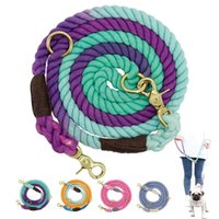 Dog Collars & Leashes Soft Pet Leash Rope Nylon Small Medium Large Dogs Long Heavy Duty Puppy Walking Hiking Lead Ropes For