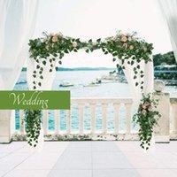 Flores decorativas grinaldas uva folhas vívidas plantas artificiais verdes lvy vine falsificar casamento casa diy decoração flowe