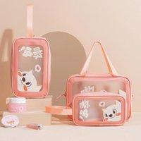 Storage Bags Outdoor Girl Makeup Cosmetic Travel Waterproof Toiletries Female Handheld Cases Cute Cartoon Multi-functional Bag