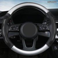 Lenkrad deckt Ligoligo Mikrofaser-Leder-Fahrzeugabdeckung für Toyotas Crown S180 S210
