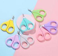 Baby Nail Scissors Curto Kids Unhas Cuidadores Cuidadores Segurança Aço Inoxidável Cabeça Redonda Scissor HHC7237