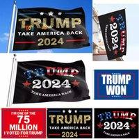 90*150cm Trump Campaign Flags Banner 2024 U.S. Presidential Take America Back Election Flag 3*5 feet