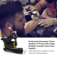 Tattoo Guns Kits S Professional Permanent Machine 12 Wrap Coils Lining Shading Coloring Motor Gun Supply For Artists
