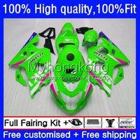 Injection Mold For SUZUKI GSXR 750 600 CC K4 GSX-R750 600CC Body 20No.124 04 05 GSXR-750 GSXR600 GSX-R600 New green hot 2004 2005 GSXR750 GSXR-600 750CC 04-05 OEM Fairing