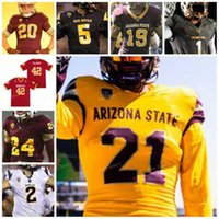 Arizona State ASU NCAA College Football Jersey 42 Pat Tillman 5 Jayden Daniels 1 DeaMonte Trayanum 3 Rachaad White 16 Trenton Bourguet