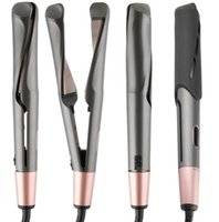 Professionelles Haar gerade Flacheisen-LED-Haar-Glätter-Twisted-Platte 2 in 1 keramischen Curling-Eisen-Haar-Locken-Curler für alle Arten Salon-Werkzeuge