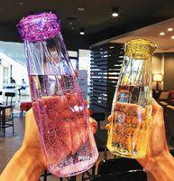 Botellas de agua de cristal Moda Taza de viaje Deporte Botella de agua Camping Senderismo Kettle Drink Taza Regalo de diamante ZC186