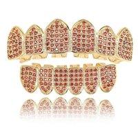 18 carats en or cuivre grillades dentaires hip hop grill