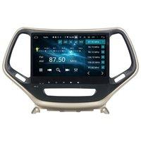 "Carplay Android Auto 1 DIN 10.1 ""PX6 Android 10 Auto DVD Player per Jeep Cherokee 2016 2017 DSP Stereo Radio GPS Navigazione Bluetooth 5.0 WiFi"