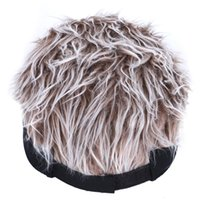 2021 En İyi Gölgeli Beyzbol Şapkası Çivili Saçlar Ile Peruk Beyzbol Şapka Çivili Peruk Erkekler Kadınlar Casual Muhtasar Güneşlik Ayarlanabilir Sun Visor