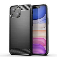 Brushed Carbon Fiber Shockproof Phone Cases For iPhone 11 12 13 Pro Max X XR XS 8 7 Plus Se Soft Silicone Protective Cover