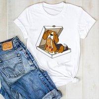 Camiseta Feminina Estampa De Men T-shirt Cachorro, Grfica com Camiset e donne ragazze camicia estate