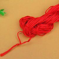 27 metros 1 mm Cordón de algodón encerado rojo cable encerado cuerda de cuerda correa collar Cuerda de cuerda DIY Jewelry Fabricación para Shamballa Pulsera