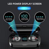 F9 Kablosuz Kulaklık Bluetooth Kulaklık TWS Kulak Hareket Stereo 5.1 Batarya Kapasitesi 2000 mAh Parmak İzi LED Ekran Modu Dokunma