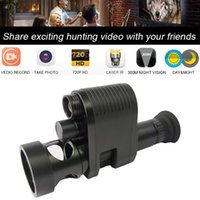 Hunting Cameras Megaorei 3 Integrated Design Night Vision Scope For Rifle Optical Sight Camera Can Record Video NV007 With Laser IR