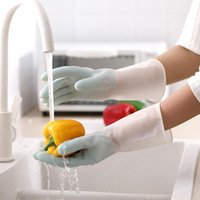 Disposable Gloves Gradient Dishwashing Female Latex Kitchen Washing Vegetables Household Chores Cleaning Durable Thin Waterproof