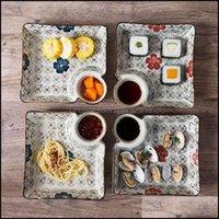 요리 접시 식기 부엌, 식초 가정용 가정용 창조적 인 일본 식기 식기 저녁 식사 B