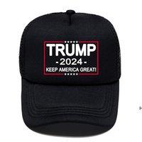 Летние американские президентские выборы Женщины мужские черные шапки шарики Трамп Письма напечатанные на открытом воздухе спортивные визуальные соискатели Sun Hats DHB6582