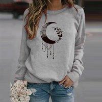 Women's Hoodies & Sweatshirts Moon Print Autumn Winter Womens Casual Tops Ladies Sweatshirt Roupas Femininas Com Frete Gratis Vintage Clothe