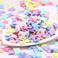 50 قطع 11x14 ملليمتر مختلط لون الحلوى الاكريليك فراشة فاصل الخرز سحر لصنع المجوهرات YKL0598X 1710 Q2