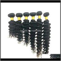 Brasiliano tessuto vergine bundle onda profonda onda riccia wafts 834inch non trasformato malese peruviano indiano capelli umani zg8cp bdfj2