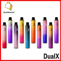 Xcelencia Dual X Cigarettes Jeune Vape jetables Pen 1400buffs 6ml 900mAh Dessin Dessin Activé 10 couleurs