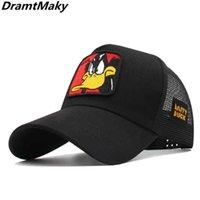 Hat Hat New Animals Cartoon Embroidery Men's Baseball Cap Women Snapback Hip Hop Summer Mesh trucker cap Bone gorra dad hat