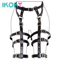 Ikoky Flirt Одежда искусственная кожа SM Bondage Gear фетиш секс игрушки для пар эротические продукты для взрослых игр роль играть x0401
