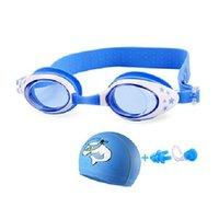 Neue Kinder Schwimmbrille Kinder Delphin Swim Cap Set Eyewear Cartoon Krabbe Wasserbrille Arena Badbrille SQCJXQ HJFEELING