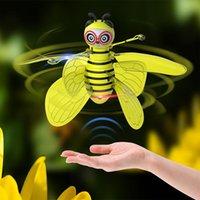 10cm Mini fliegende Biene RC Drohne mit Flügeln Hand Sensing Induktion Hubschrauber Elektronische Modell Quadcopter Drohne Spielzeug für Kinder Drohnen