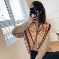 2021Beautiful Print Luxury Bag Strap vWomen Silk Scarf Fashion Head Headwear Square Scarves Accessories Ribbon