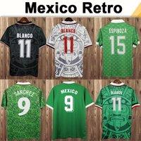 1998 México Blanco Hernandez Mens Retro Futebol Jerseys 1994 H. Sanchez Equipe Nacional Home ALUGAR FUTEBOL FUTEBOL