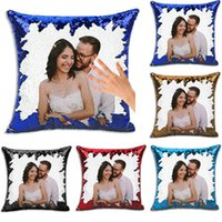 40 * 40 cm Diy sublimazione Blank Blank Sequin Couple Coperture Coperture Creativity Fashion Fashion Decoration Decoration Regalo PillowsLip