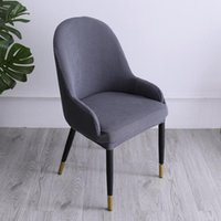 Chair Covers Armchair Dining Office Cover Slipcover Sloping Curved Back Stretch Make Up Seat Solid Color Bar Club Decorati