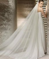 Bridal Veils Wedding Veil 2021 Long 3 M One Layer Ivory White Soft Tulle Head Women With Comb Accessories