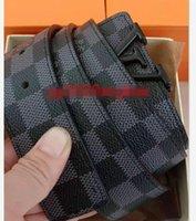 Fashion Big Letter L buckle genuine leather belt no box designer V men women high quality mens belts AAA886